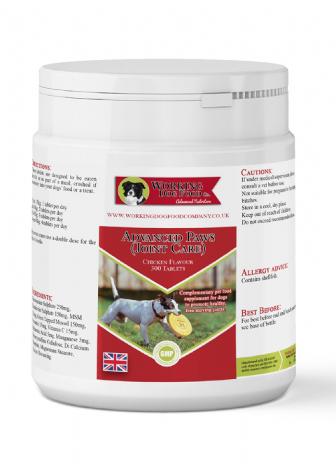 Advanced Paws (Joint Care) 300 Tablets